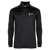 Nike Golf Dri Fit 1/2 Zip Black/Grey Pullover-Newport News Shipbuilding