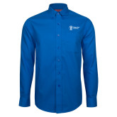 Red House French Blue Long Sleeve Shirt-Newport News Shipbuilding