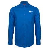 Red House French Blue Long Sleeve Shirt-Huntington Ingalls Industries