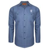 Red Kap Postman Blue Long Sleeve Industrial Work Shirt-Icon