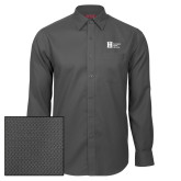 Red House Dark Charcoal Diamond Dobby Long Sleeve Shirt-Huntington Ingalls Industries