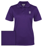 Ladies Purple Dry Mesh Polo-Icon