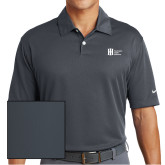 Nike Dri Fit Charcoal Pebble Texture Sport Shirt-Huntington Ingalls Industries