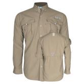 Columbia Bahama II Khaki Long Sleeve Shirt-Icon