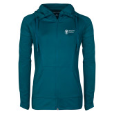 Ladies Sport Wick Stretch Full Zip Sapphire Jacket-Newport News Shipbuilding