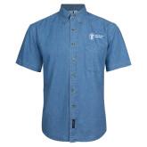 Denim Shirt Short Sleeve-Newport News Shipbuilding