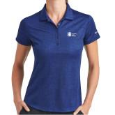 Ladies Nike Dri Fit Royal Crosshatch Polo-Huntington Ingalls Industries