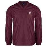 V Neck Maroon Raglan Windshirt-Icon