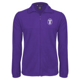 Fleece Full Zip Purple Jacket-Icon