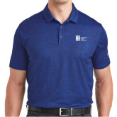 Nike Dri Fit Royal Crosshatch Polo-Huntington Ingalls Industries