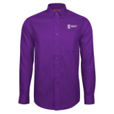 Red House Purple Long Sleeve Shirt-Newport News Shipbuilding