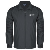 Full Zip Charcoal Wind Jacket-Newport News Shipbuilding