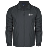 Full Zip Charcoal Wind Jacket-Huntington Ingalls Industries