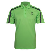 Lime Green Performance Colorblock Stripe Polo-Icon