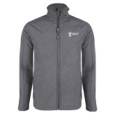 Grey Heather Softshell Jacket-Newport News Shipbuilding