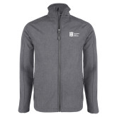 Grey Heather Softshell Jacket-Huntington Ingalls Industries