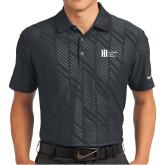 Nike Dri Fit Black Embossed Polo-Huntington Ingalls Industries
