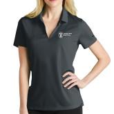 Ladies Nike Golf Dri Fit Charcoal Micro Pique Polo-Newport News Shipbuilding