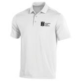 Under Armour White Performance Polo-Huntington Ingalls Industries