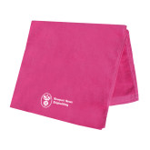 Pink Beach Towel-Newport News Shipbuilding
