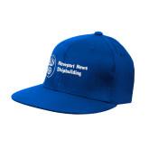 Royal Flat Bill Snapback Hat-Newport News Shipbuilding