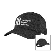 PosiCharge Charcoal/Black Electric Heather Snapback Hat-Huntington Ingalls Industries