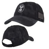 Kryptek Typhon Black U.S. Flag Hat-Icon