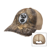 Realtree Xtra Black/Khaki Mesh Back Unstructured Hat-Icon