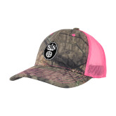 Mossy Oak Camo/Neon Pink Structured Hat-Icon