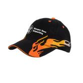 Black Flame Twill w/Orange Sandwich Structured Hat-Icon