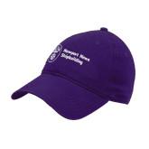 Purple Twill Unstructured Low Profile Hat-Newport News Shipbuilding