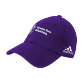 Adidas Purple Slouch Unstructured Low Profile Hat-Newport News Shipbuilding