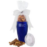 Deluxe Nut Medley Vacuum Insulated Blue Tumbler-Huntington Ingalls Industries Engraved