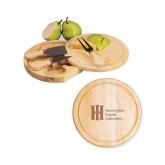 7.5 Inch Brie Circular Cutting Board Set-Huntington Ingalls Industries Engraved