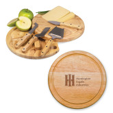 10.2 Inch Circo Cheese Board Set-Huntington Ingalls Industries Engraved