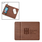 Ronan Brown Wireless Charger Mouse Pad-Huntington Ingalls Industries Engraved