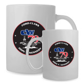 Full Color White Mug 15oz-CVN 79