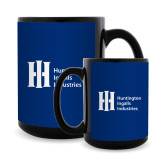 Full Color Black Mug 15oz-Huntington Ingalls Industries