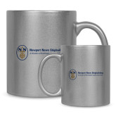 Full Color Silver Metallic Mug 11oz-Newport News Shipbuilding