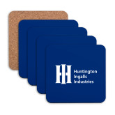 Hardboard Coaster w/Cork Backing 4/set-Huntington Ingalls Industries
