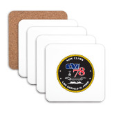 Hardboard Coaster w/Cork Backing 4/set-CVN 78