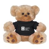 Plush Big Paw 8 1/2 inch Brown Bear w/Black Shirt-Huntington Ingalls Industries