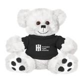 Plush Big Paw 8 1/2 inch White Bear w/Black Shirt-Huntington Ingalls Industries