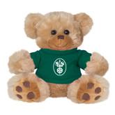 Plush Big Paw 8 1/2 inch Brown Bear w/Dark Green Shirt-Icon