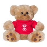 Plush Big Paw 8 1/2 inch Brown Bear w/Red Shirt-Icon