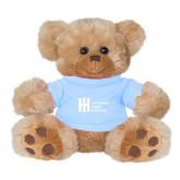 Plush Big Paw 8 1/2 inch Brown Bear w/Light Blue Shirt-Huntington Ingalls Industries