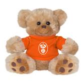 Plush Big Paw 8 1/2 inch Brown Bear w/Orange Shirt-Icon