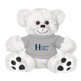 Plush Big Paw 8 1/2 inch White Bear w/Grey Shirt-Huntington Ingalls Industries