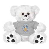 Plush Big Paw 8 1/2 inch White Bear w/Grey Shirt-Icon