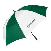 62 Inch Forest Green/White Umbrella-Newport News Shipbuilding